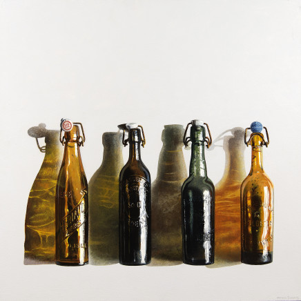 Peter Evans - Four Old Beer Bottles