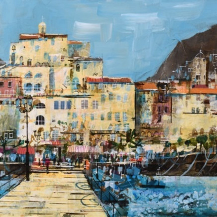 Mike Bernard R.I. - Amalfi from the Jetty