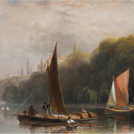William Daniell R.A. - The Thames near Richmond