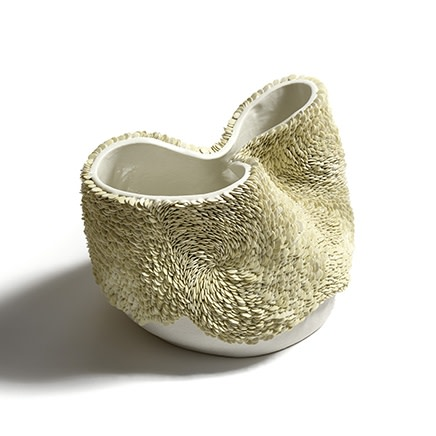 Fenella Elms - White Green Flow Pot