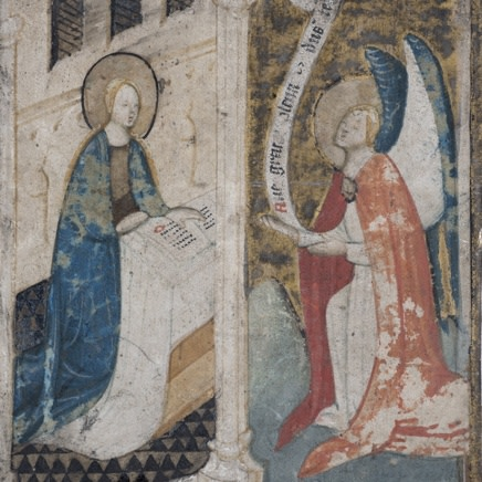 Flemish school - Annunciation from an illuminated manuscript