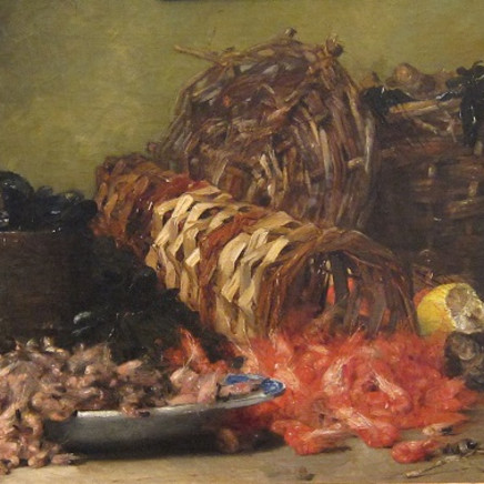 Denis Pierre Bergeret - Still life with seafood