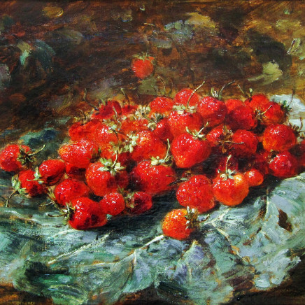 Alexis Kreyder - Cherries and Strawberries: A pair of paintings