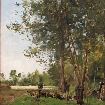 Charles Jacque - Le berger et son troupeau