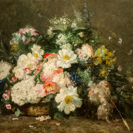 Adolphe-Louis Castex-Degrange - Flowers in a basket