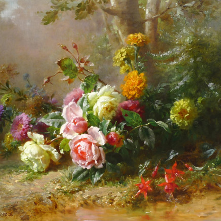 Émile-Gustave Couder - Mixed summer flowers