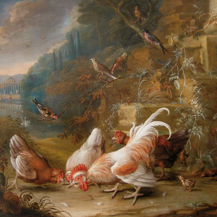 George William Sartorius - Birds and Fowl in a Landscape