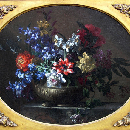Nicholas Baudesson - A pair of still lives of flowers