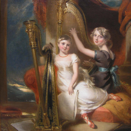 George Harlow - Portrait of Louisa and Eliza Sharpe