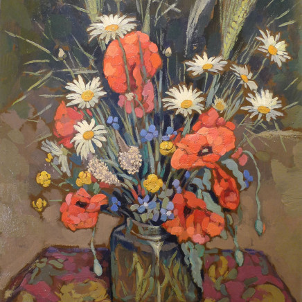 Jacques Martin Ferrieres - Poppies and mixed flowers