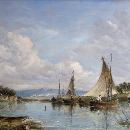 Alfred Vickers - River Scene