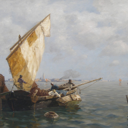Ludwig Dill - Fisherman in Venice