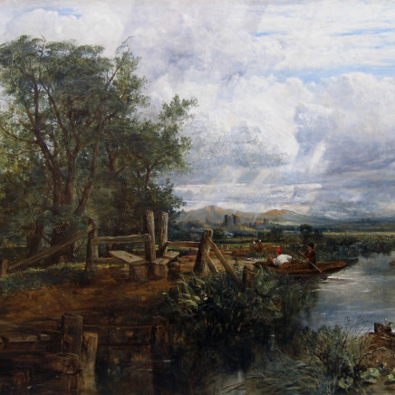 Frederick William Watts - Landscape with ruined castle