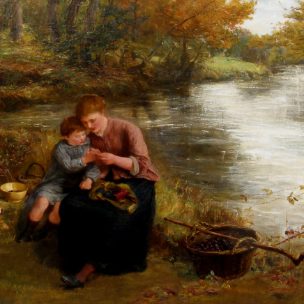 James Clarke Hook - Collecting blackberries