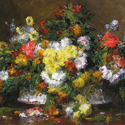 Ernest Quost - Still life of flowers