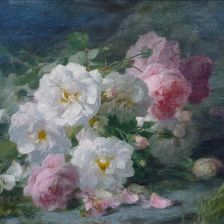 Andre Benoit Perrachon - Still life of roses
