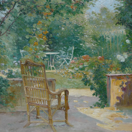 Eugene Henri Cauchois - Morning in the garden , c.1890