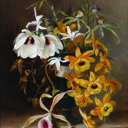 Louis Constans - Still life of orchids