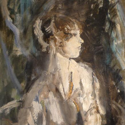Ambrose McEvoy - Portrait of the ballerina Lydia Lopokova , c.1919