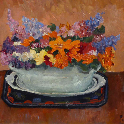 Paul Maze - Wild flowers in a green bowl