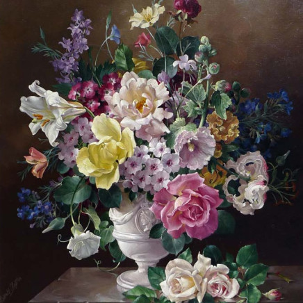 Harold Clayton - Still life of flowers