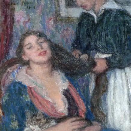 Edmond Francois Aman-Jean - La coiffure