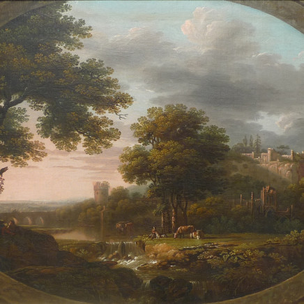 John Collett - Landscape with river and castle