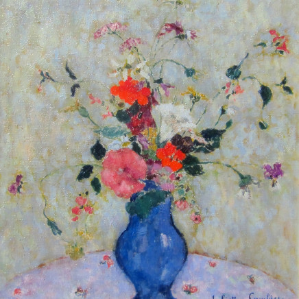 Juliette Cambier - Summer flowers in a blue vase