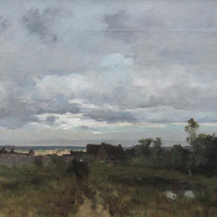 Leon Germain Pelouse - Carriole dans un paysage
