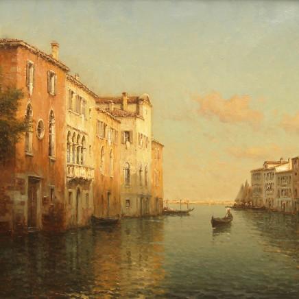 Antoine Bouvard - Venetian scene at dusk