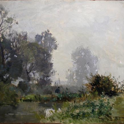 Edmond Marie Petitjean - Study of a landscape