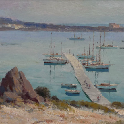 Edward Seago - The Pontoon, Porto Cervo, Sardinia