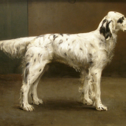 Charles Van Den Eycken - Pair of dog portraits (I of II), 1885