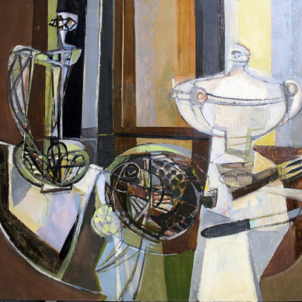 Georges Dayez - Still life with a soup tureen