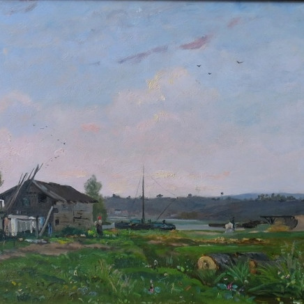 Hippolyte Camille Delpy - River Landscape, 1895
