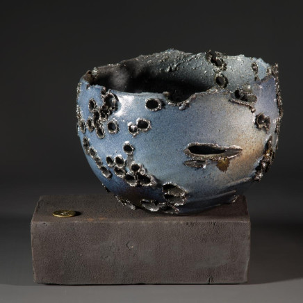 Allison Weightman - Shotgun bowl on oak plinth ii, 2018