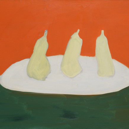 Nicolas de Staël - Nature morte, poires, fond vert et orange, 1954