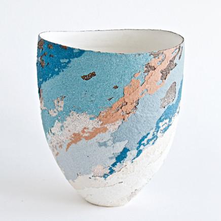Vessel – scooped rim, stoneware, 14 cm