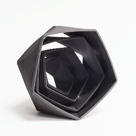 'Helix 5555, black porcelain.
