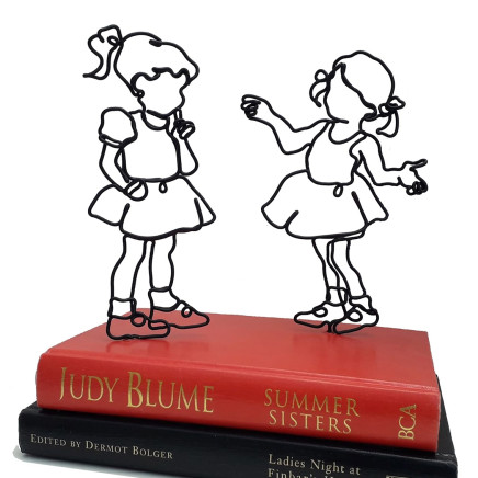 'Summer Sisters' 2020, Vintage books and wire sculpture