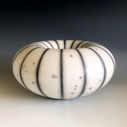 'Humbug' Form, raku-fired porcelain, 11 x 23 cm