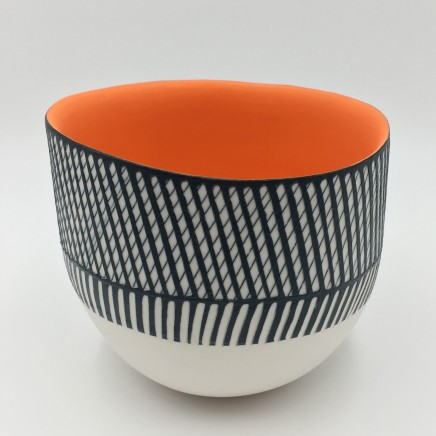 Bowl with Orange Interior by Lara Scobie