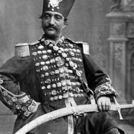 Pierre Eugene Thiebault - Naser al-Din Shah Qajar, 1873