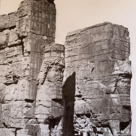 Adolphe Braun - Gate of All Lands, Colossal Sculptures Depicting Heads of a Bull, Persepolis, Late 19th Century