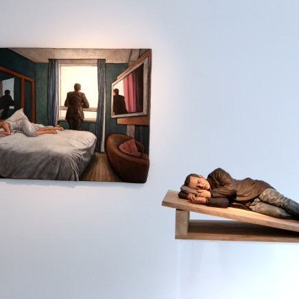 Sleeping sculpture in Belgium