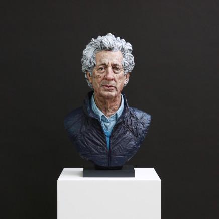 Portrait of Sir Martyn Arbib, Bronze Sculpture, oil paint, 2021, 29 x 18 x 12in