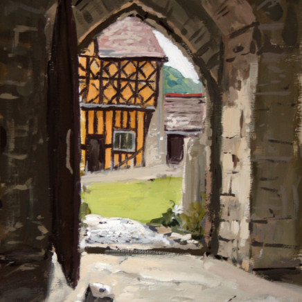 Matthew Wood - Stokesay Castle. View to the Gathhouse from the Hall