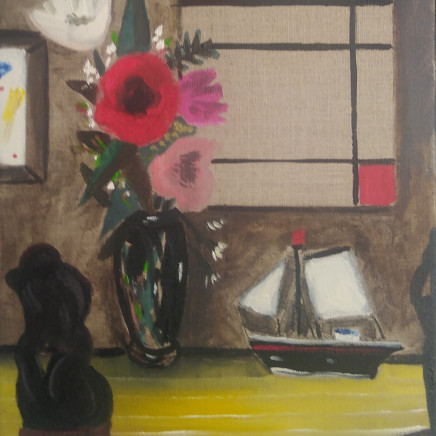 Emrys Williams - Flowers, Toy Boat and Mondrian