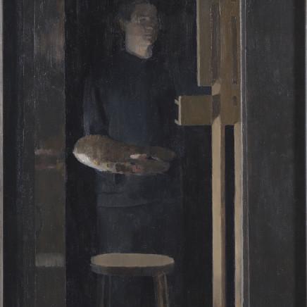 Nicolas Granger-Taylor - View through studio doorway, with self-portrait