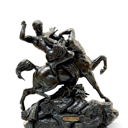 Antoine Louis Barye and Ferdinand Barbedienne - Theseus slaying the Centaur Bianor, modeled in 1850